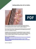 Digitación e independización de los dedos RUTINA