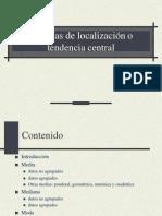 Medidas de Localizacion Central Estadistica i