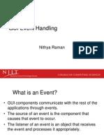 GUI Event Handling