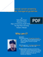 WHO's cervical cancer screening programmes