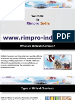 Specialty Oilfield Chemicals – Demulsifiers, Corrosion Inhibitors from Rimpro India