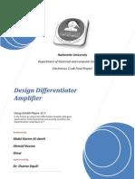 Design Differentiator Amplifier