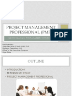 Project Management Professional (Training)