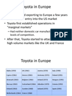 Toyota in Europe