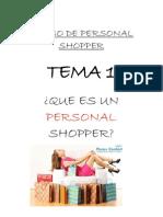 Tema 1 - Que Es Un Personal Shopper