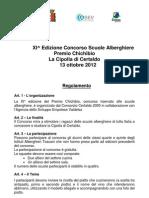 Regolamento Premio Chichibio 2012