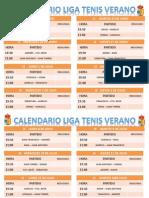 Calendario Liga Tenis