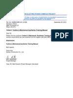 12-884 Turbine & Mechanical Auxiliaries Training Manual