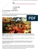 'Big Data', 'Who Owns the Future_' and 'To Save Everything, Click Here' - FT