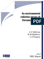 New Zealand radiological survey Christmas Island