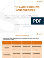 15 Ways to Avoid Problems With Your Suppliers eBook v1.0