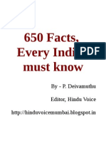 650 Facts, Every Indian Must Know