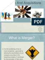 Mergers and Acquisations