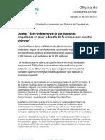 """Dueñas """" Este Gobierno y este partido están empeñados en sacar a España de la crisis, ese es nuestro objetivo"""""""