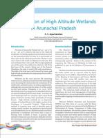 Conservation of High Altitude Wetlands in Arunachal Pradesh