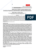 Distribution of MTHFD1 gene 1958G>A Polymorphism in the  Jordanian Population and its Relation with Neural tube Defects