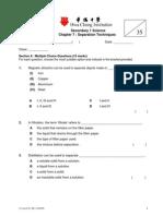 Separation Techniques Worksheet 1