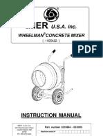 Cement mixer wheelbarrow