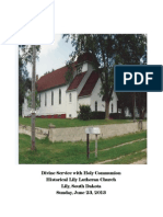 Annual Homecoming Service - Lily Lutheran Church, Lily, South Dakota