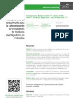 Desarrollo y validación de un cuestionario para la caracterización de estudiantes de medicina investigadores en Colombia