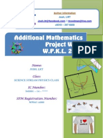 Additional Mathematics Project Work 2013 WPKL
