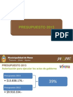 Presentacion Presupuesto y Tarifaria