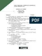 2012 Chimie Etapa Locala Subiecte Clasa a VIII-A 0