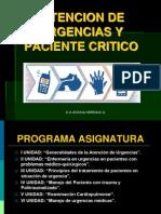 1.- Atención en Urgencia y Paciente Crítico