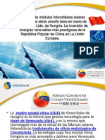Fábrica llave en mano de módulos fotovoltáicos húngaros para Venezuela (2)