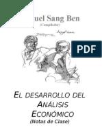 Cronologia Del Desarrollo Del Analisis Economico
