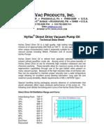 Direct Drive Oil Spec Sheet