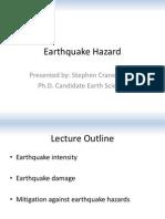 L11 - Earthquake Hazard - Steve Crane
