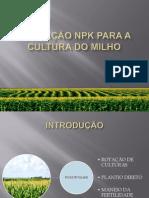 Adubação NPK do milho