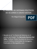 EL ANÁLISIS DE SISTEMAS POLÍTICOS DE ACUERDO A EASTON