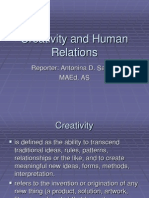 Creativity and Human Relations