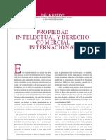 Propiedad Intelectual y Derecho Comercial Internacional