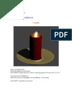 blender candle modeling tutorial