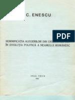 87893514 C Enescu Semnificatia Alegerilor Din Decembrie 1937 Colectia Drum 1983