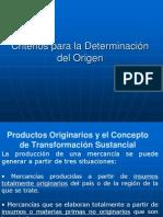 Criterios Para La Determinacion Del Origen