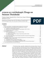 Effects of Psychotropic Drugs on Seizure Threshold