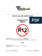 Manual de Heladera Whirlpool ARB-210