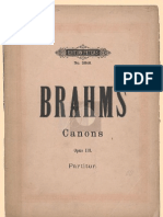 Brahms 12 Canons