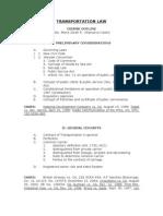 Transportation Law Outline