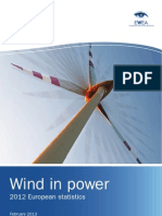 Wind in Power Annual Statistics 2012(1)