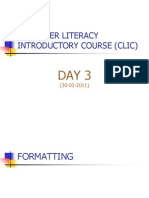 Computer Literacy Introductory Course