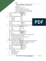 CSAT Paper 2013 (Paper 1)