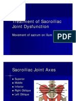 Treatment of Sacroiliac Joint Dysfunction