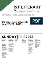MLG ICS Schedule 2013