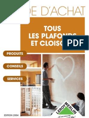 Bricolage Guide Plafond Cloison Platre Lm Plâtre Brique