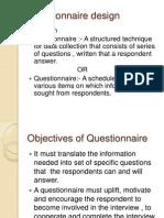 business reach  Questionnaire Design
